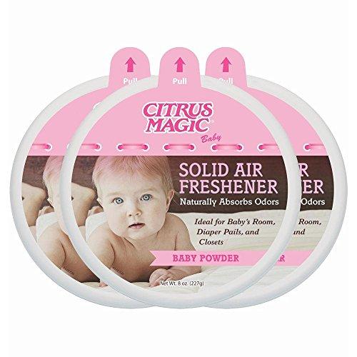 Citrus Magic 8 oz. Baby Powder Odor Absorbing Solid Air Fres