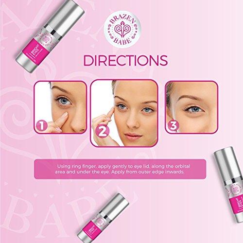 Eye Cream,''Bright Eyes'' by Brazen Babe- Eliminates Dark Circles, Puffiness, Fine Lines & Wrinkles-Scientifically Proven, Natural Moisturizing Treatment Brightens and Tightens by Brazen Babe (Image #5)