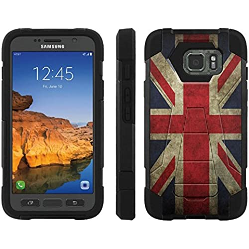 AT&T [Galaxy S7 Active] ShockProof Case [ArmorXtreme] [Black/Black] Hybrid Defender [Kickstand] - [England Flag] for Samsung Galaxy [S7 Active] Sales