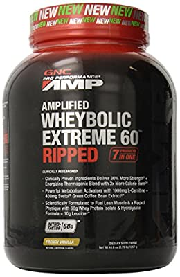 GNC Pro Performance AMP Amplified Wheybolic Extreme 60 Ripped, French Vanilla - 2.79 lbs