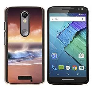 For Motorola Droid Turbo 2 / Moto X Force Case , Sunset Beautiful Nature 32- Diseño Patrón Teléfono Caso Cubierta Case Bumper Duro Protección Case Cover Funda
