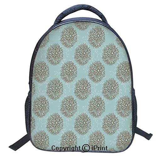 3D Print Backpack,Suitable for Kids,School Backpack,Book bags,Travel Hiking Bag Backpack Collection Bags for Teen Girls Kids,16 inch,Exotic Boho Image of Native American Hollow Stem Fresh Garden - Native Collection Garden