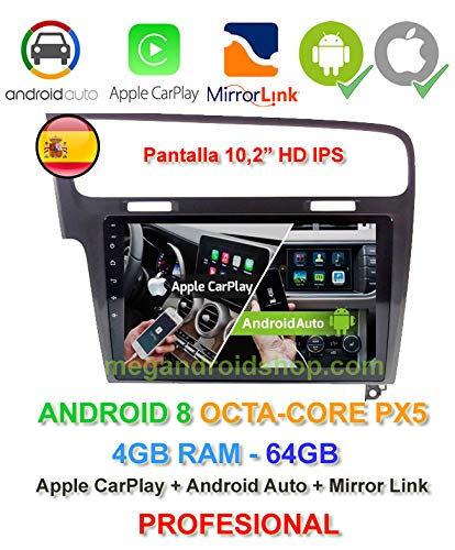 Radio 2din GPS, Android 8, Pantalla IPS, OctaCore PX5 64bits ...