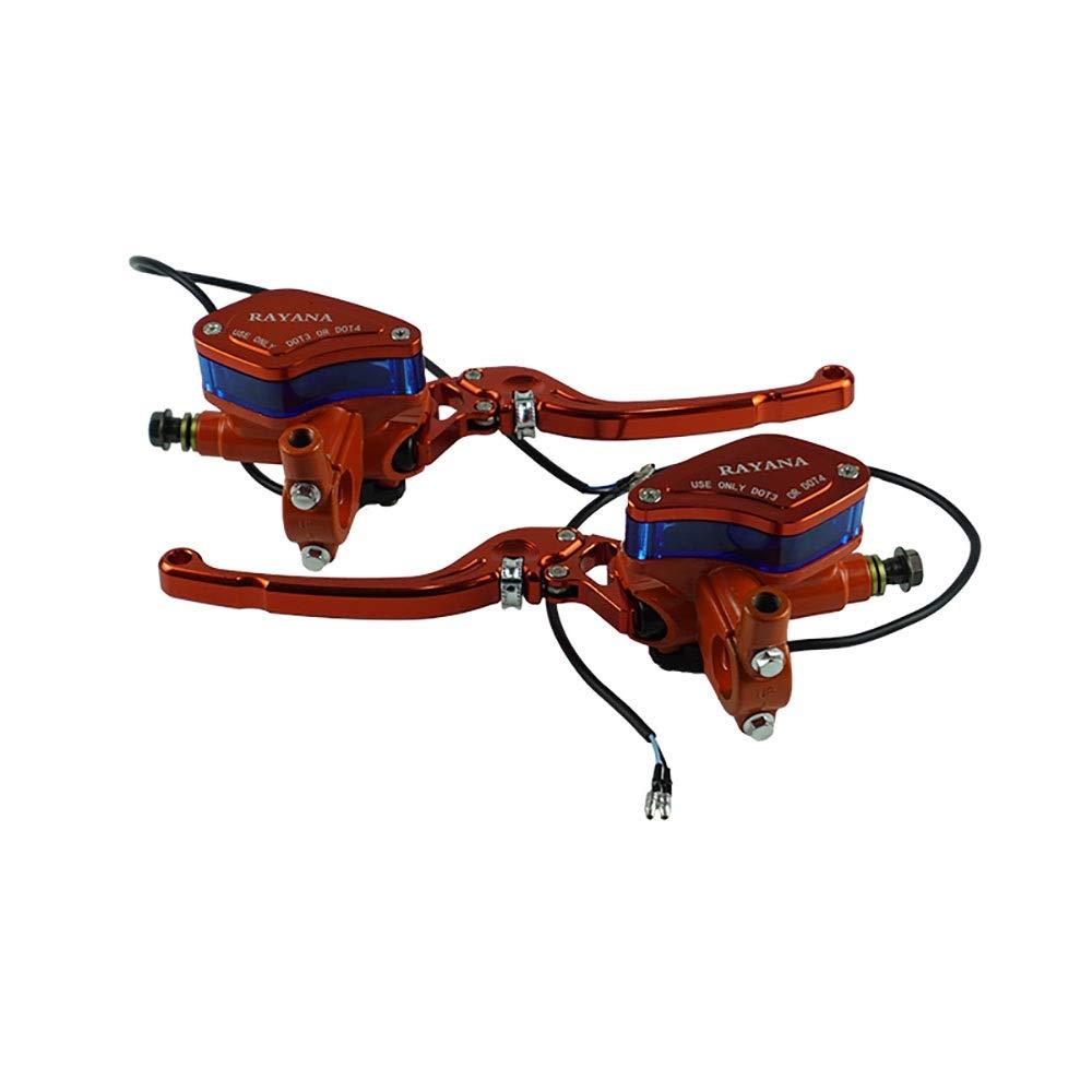 Color : Azul Manetas de freno Un par de cilindro de la bomba de freno de embrague hidr/áulico de manija ajustable para Yamaha Suzuki H o n d a LPLHJD