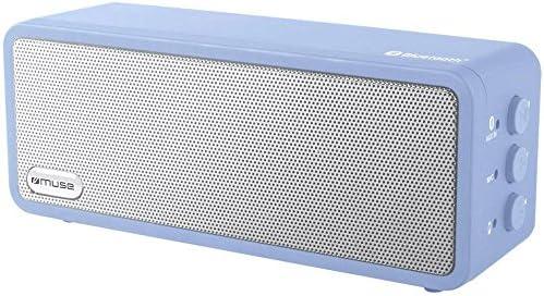 Muse M350 BTM draagbare Bluetoothluidspreker met handsfree functie draadloos streamen Apple iPhonetablet USB AUXIn blauw