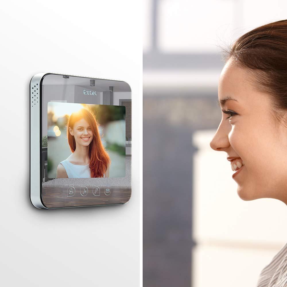 EXTEL Large /Écran de 18cm Visiophone 2 fils avec effet Miroir Quattro2