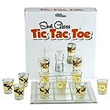Fairly Odd Novelties Shot Glass Tic Tac Toe Drinking Game, Clear