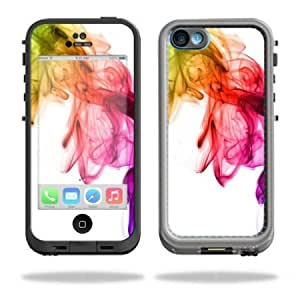 Bloutina Protective Vinyl Skin Decal Cover for LifeProof iPhone 5C Case fre Case Sticker Skins Rainbow Smoke