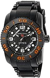 Swiss Legend Men's 'Commander Pro' Swiss Quartz Stainless Steel Casual Watch (Model: 10069-BB-01-OA)