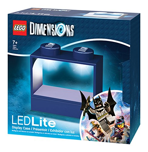 LEGO Dimensions LED Light-up Display Case for Minifigures - Blue