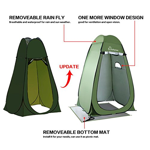 Wolfwise Shower Tent Privacy Portable Camping Beach Toilet