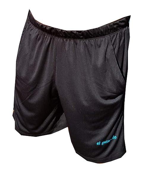 El Gusanillo - Short de pádel o Tenis Unaza Negro-Turquesa: Amazon ...