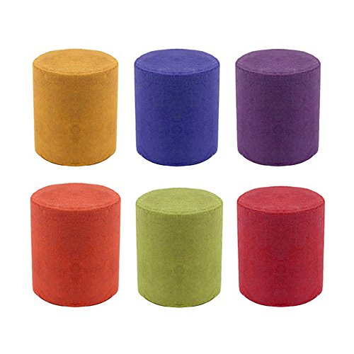 Smoke Flare - Smoke Cake Smoke Colorful Effect Photography Props Toy 6 Pcs 6 Colors Random Delivery