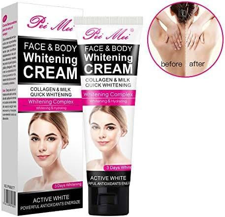 Body Cream, Sky-shop Moisturizing Cream Body Cream Face Cream Whitening Cream For Dark Skin Bleaching Brightening Body Lotion Whitening Cream Armpit Whitener Cream (120ml)