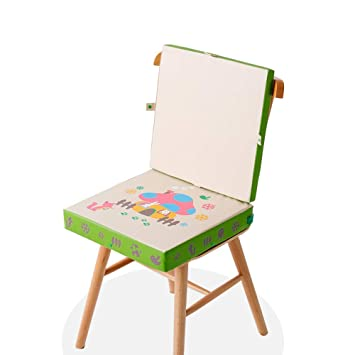 Waterproof Kids Booster Seat Cushion For Dining Chair Two Layers