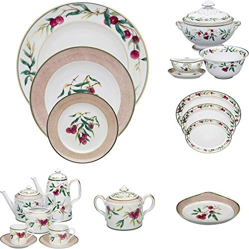 (Vista Alegre Lychee Porcelain 100 Pieces Complete Dinnerware Set)