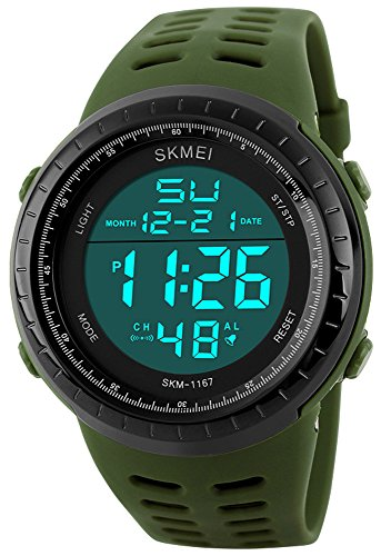 Price comparison product image Fanmis Military Sports Analog Digital Quartz Waterproof Luminous Black Watch Green