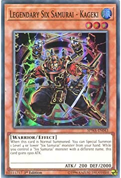 SPWA-EN045 Super Rare 1st Edition Mizuho Legendary Six Samurai