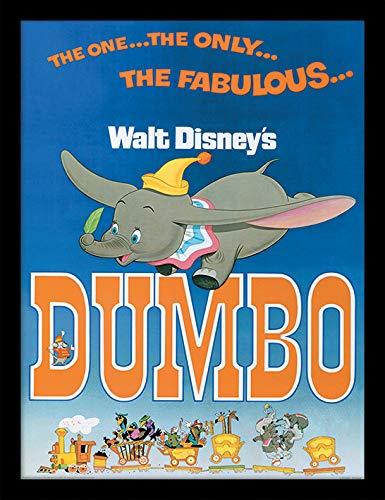 Disney Dumbo (The Fabulous) Memorabilia, Multi-Colour, 30 x 40 cm Pyramid International FP11406P-PL