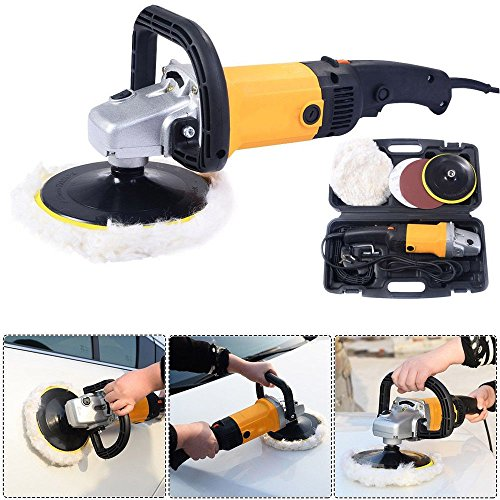 "Car Polisher Buffer Waxer Electric 7"" 6 Variable Speed Sander Boat Buffing Detail Kit Auto"