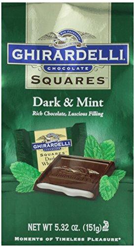 Ghirardelli, Dark Chocolate With White Mint, 5.32 oz Bag
