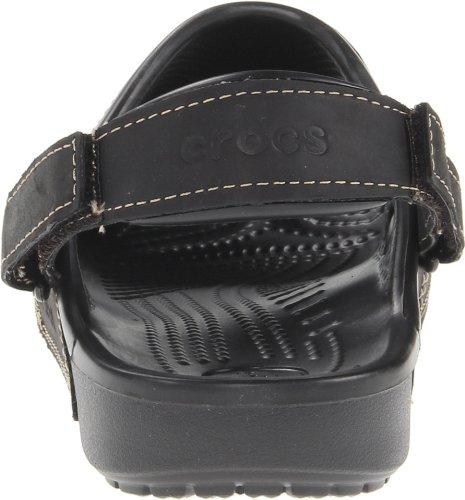 Crocs Mens Yukon Dubbel Rem Sandal Svart / Svart