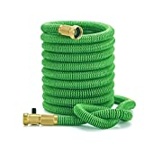 Expanding Hose Noopel 50ft Strongest Expandable Garden Hose with Double Latex Core Solid Brass Fitting and 5000 Denier Woven Casing for All Your Watering Needs (Green)