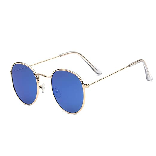 dbd647df3e Image Unavailable. Image not available for. Color  Mabalar Classic Metal  Frame Retro Round Circle Mirrored Sunglasses Men Women Glasses