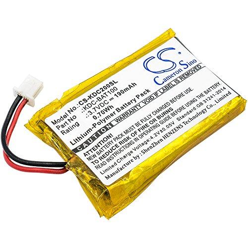 190mAh Battery for KDC-100, KDC-200