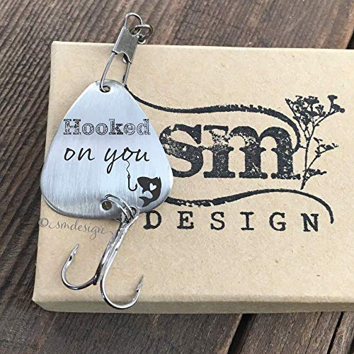 Personalized Hooked On You Fishing Lure- Boyfriend Gift Anniversary Gift for Boyfriend Men's Gift Personalized Engraved Fishing Lure Gift