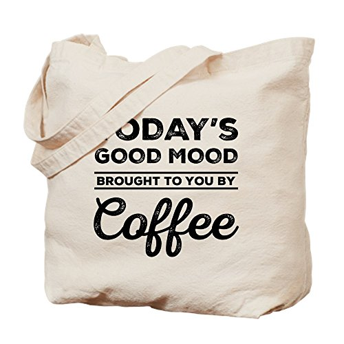 CafePress – Brought to you by café Tote Bag – Natural gamuza de bolsa de lona bolsa, bolsa de la compra