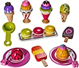 Ice Cream Toy - Pretend Ice Cream Set - Ice Cream Play Set – Wooden Ice Cream Set - By Dragon Drew (25 PC Set)