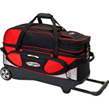 Columbia 300 Pro Series 3 Bowling Ball Roller Bag, Red/Silver/Black