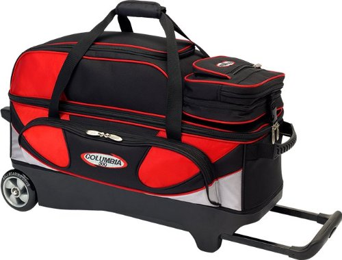 Columbia 300 Pro Series 3 Bowling Ball Roller Bag, Red/Silver/Black by Columbia