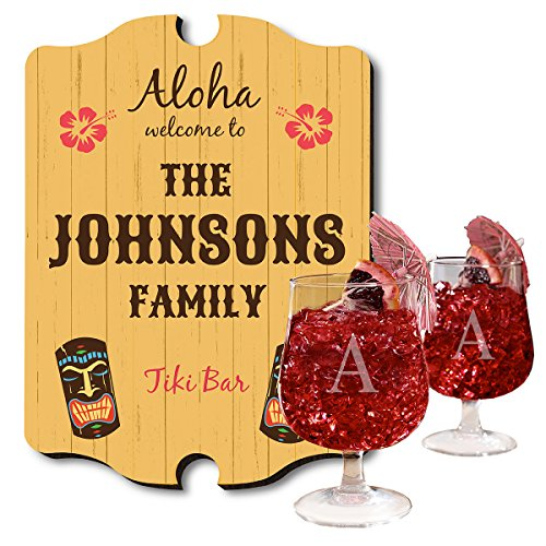 Personalized-Tiki-Bar-Sign-and-Hurricane-Glass-Set-Customizable-Product