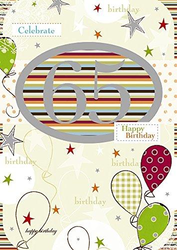 65TH BIRTHDAY - cumpleaños Tarjeta de felicitaciones por ...