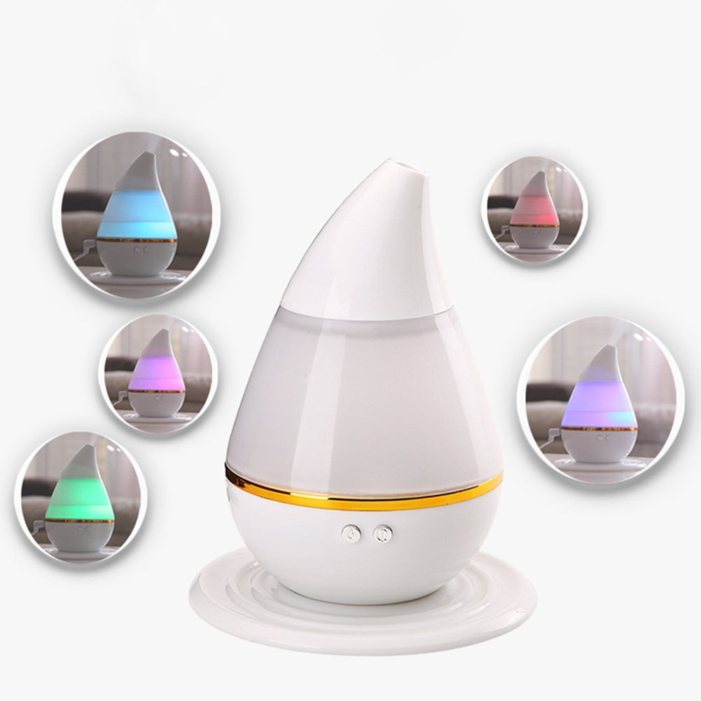 Ragdoll50 Ultrasonic Humidifier, Low Noise Cool Mist Humidifier USB Aroma Diffuser Air Purifier Humidifier for Home, Yoga, Office, Spa, Bedroom, Baby Room
