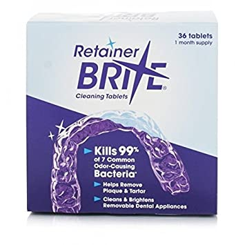 Amazon Retainer Brite Cleaning Tablets 36 Tablets Beauty