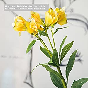 Artificial flowers Lily Narcissus manual Simulation Silk flower Fake flowers Living room Bedroom Floral ornaments 14