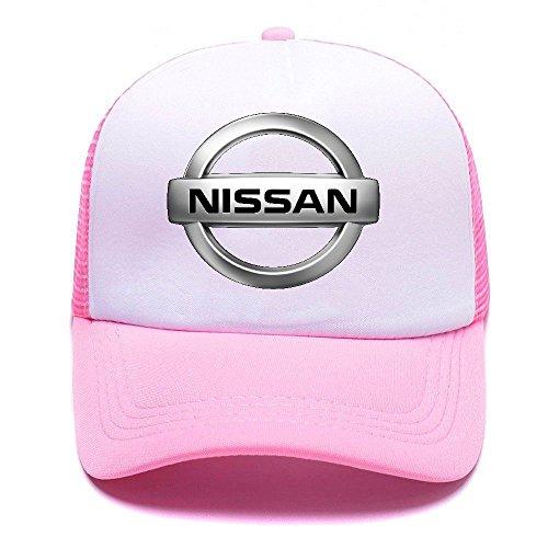 Niss Car Logo D66KA2 Trucker Hat Baseball Caps Gorras de Béisbol for Men Women Boy Girl Pink