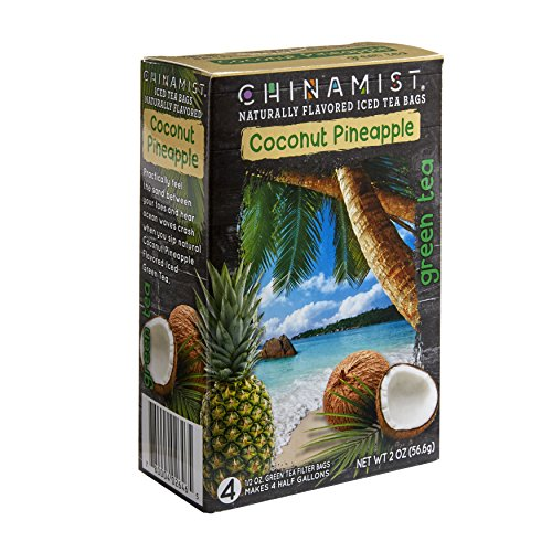 China Mist Naturally Flavored Coconut Pineapple Iced Green Tea Bags (Mist Tea Green China)