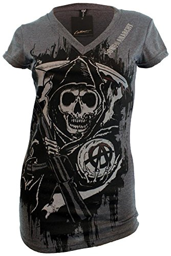 Juniors: SOA V-Neck Cover Up Dress Mini Dress Size XL (Sons Of Anarchy Shirt)