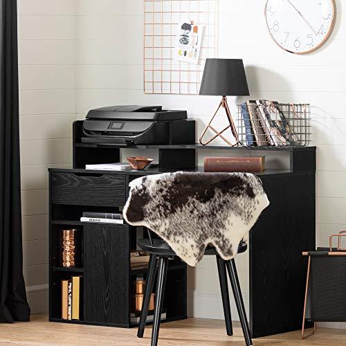 South Shore 12222 Holland Hutch and Storage, Black Oak Desk