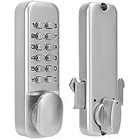 Sonew Cerradura mecánica Digital, Cerradura de la Puerta con Llave de la contraseña, 1-11 Cerradura de Puerta de combinación de dígitos para Cocina/balcón/Seguridad para el hogar