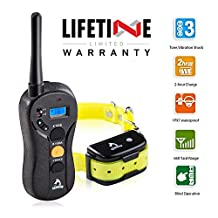 PATPET Dog Training Collar -Rechargeable & Waterproof 660yd Remote Control Collar - Blind Operation Remote with Tone / Vibration / Shock Electric Collar-Fit For (10Lbs - 100Lbs) (610)