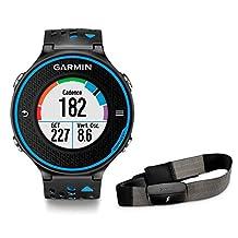 Garmin Forerunner 620 Black/Blue GPS Running Watch with HRM (010-01128-40)