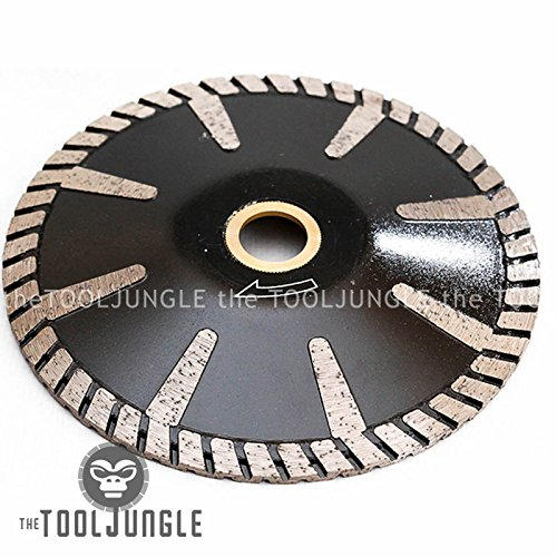 5'' Diamond Turbo Blade Convex Sink Cutter Wet/DRY Granite Stone Concrete by Tiburon