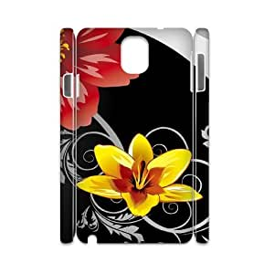 CHSY CASE DIY Design Bright Color Flower 1 Pattern Phone Case For samsung galaxy note 3 N9000