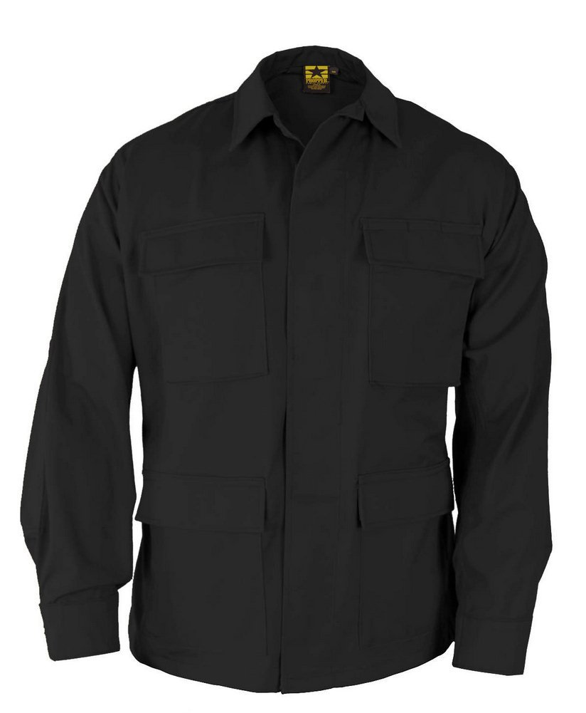 Propper BDU Coat Regular Length 65/35 Polyester/Cotton Ripstop Black XXLR by Propper (Image #1)