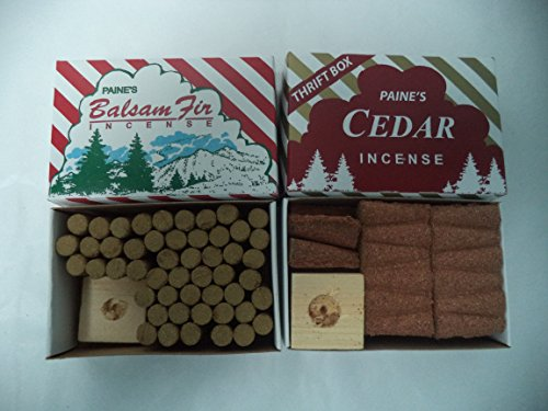 Paine's Balsam Fir 50 Sticks + Red Cedar Cones 50 Cones: 100 CHRISTMAS INCENCE